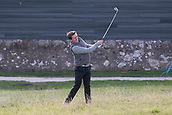 2nd October 2017, The Old Course, St Andrews, Scotland; Alfred Dunhill Links Championship golf practice round; 20 times Champion Jockey, Sir Anthony McCoy, plays from the rough on the second hole during a practice round on the Old Course, St Andrews, before the Alfred Dunhill Links Championship