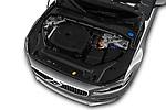 Car Stock 2018 Volvo S90 Inscription 4 Door Sedan Engine  high angle detail view