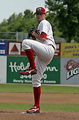 June 20, 2004:  Pitcher Joe Bisenius of the Batavia Muckdogs, Short-Season Single-A affiliate of the Philadelphia Phillies, during a game at Dwyer Stadium in Batavia, NY.  Photo by:  Mike Janes/Four Seam Images