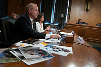 Acting Commissioner of U.S. Customs and Border Protection Mark Morgan and Deputy Inspector General of U.S. Department of Homeland Security Jennifer Costello testify before the U.S. Senate Committee on Homeland Security on Capitol Hill in Washington D.C., U.S. on July 30, 2019. <br /> <br /> Credit: Stefani Reynolds / CNP/AdMedia