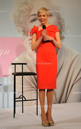 Michelle Williams, Mar 14, 2012 : Actress Michelle Williams attends the 'My Week with Marilyn' Press Conference at the Imperial Hotel on March 14, 2012 in Tokyo, Japan.