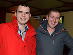 Michael Corcoran and Neil McMahon enjoying a night out at Butterly's Bar Ardee. Photo: Colin Bell/pressphotos.ie