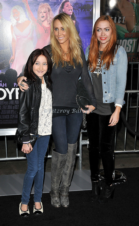 Tish Cyrus and her daughters Brandi and Noah at the premiere of Joyful Noise held at Grauman's  Chinese Theatre in Hollywood, CA. January 9, 2012