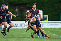 Isaac Miller of London Scottish in action during the Greene King IPA Championship match between London Scottish Football Club and Doncaster Knights at Richmond Athletic Ground, Richmond, United Kingdom on 30 September 2017. Photo by Jason Brown / PRiME Media Images.