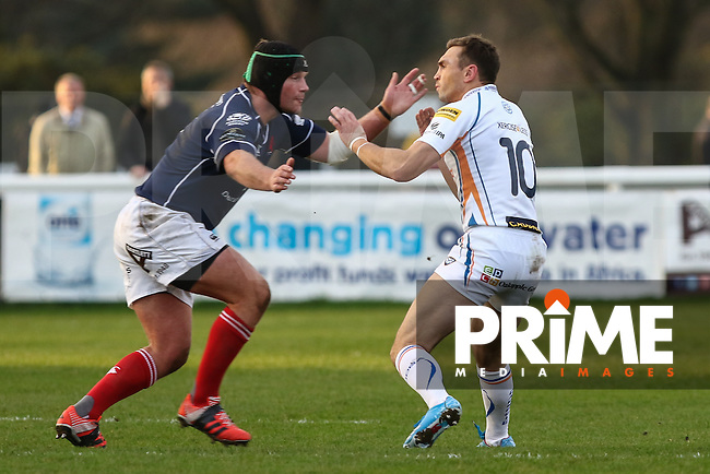 Kevin Sinfield of Yorkshire Carnegie, Sports Personality of the year nominee, during the British and Irish Cup fourth round fixture between London Scottish Football Club and Yorkshire Carnegie at Richmond Athletic Ground, Richmond, United Kingdom on 19 December 2015. Photo by David Horn.