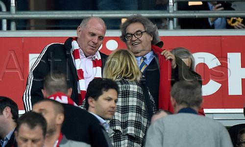 05.04.2016. Munich, Germany. UEFA Champions League FC Bavaria Munich versus Benfica Lisbon.   Ulrich Uli Hoeness (FC Bayern) and Helmut Markwort