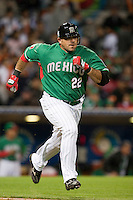 15 March 2009: #22 Christian Presichi of Mexico runs to first base during the 2009 World Baseball Classic Pool 1 game 2 at Petco Park in San Diego, California, USA. Korea wins 8-2 over Mexico.