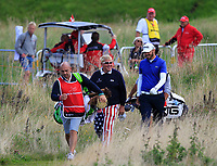 John Daly (USA) and Gregory Havret (FRA) walking off the 4th tee during Round 4 of Made in Denmark at Himmerland Golf &amp; Spa Resort, Farso, Denmark. 27/08/2017<br /> Picture: Golffile | Thos Caffrey<br /> <br /> All photo usage must carry mandatory copyright credit     (&copy; Golffile | Thos Caffrey)