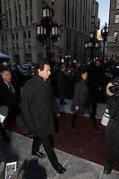 Parti Quebcois leader Pierre-Karl Peladeau  attend the funeral of manager Rene Angelil, Friday january 22, 2016 at Notre-Dame Basilica in Montreal, Canada.<br /> <br /> His wife Julie Snyder filed for divorce few days later.<br /> <br /> Photo :   Pierre ROUSSEL - Agence Quebec Presse<br /> <br /> <br /> <br /> <br /> <br /> <br /> <br /> <br /> <br /> .