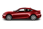 Car Driver side profile view of a 2019 Lexus RC 300h-Privilege-Line 2 Door Coupe Side View