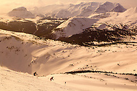 Skiing at Sunshine Village, near Banff, Banff National Park, Alberta, Canada