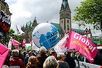 GERMANY, Hamburg, town hall, protest rally against G-20 summit in july 2017 / DEUTSCHLAND, Hamburg, Rathaus, Protest Demo gegen G20 Gipfel in Hamburg