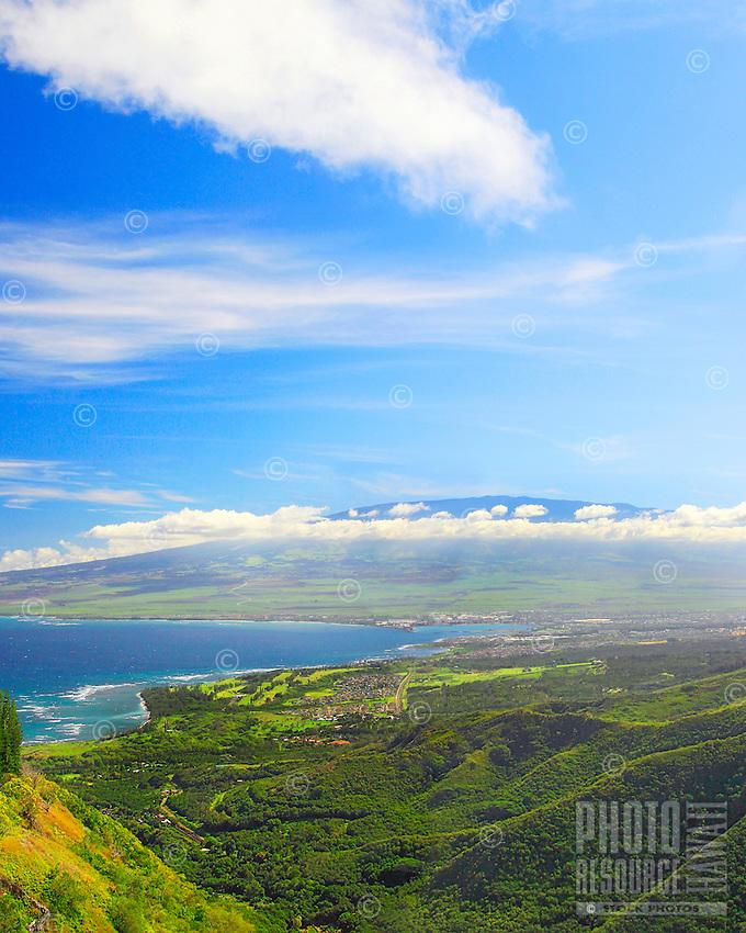 View from the Waihe'e ridge trail, Maui, Hawaii.