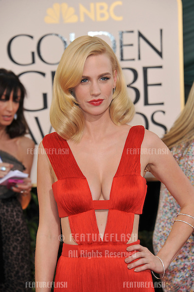 January Jones at the 68th Annual Golden Globe Awards at the Beverly Hilton Hotel..January 16, 2011  Beverly Hills, CA.Picture: Paul Smith / Featureflash