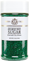 10213 Emerald City Green Sparkling Sugar, Small Jar 3.5 oz