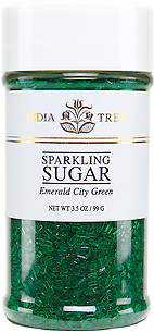 10213 Emerald City Green Sparkling Sugar, Small Jar 3.5 oz, India Tree Storefront