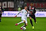 06.10.2019, Commerzbankarena, Frankfurt, GER, 1. FBL, Eintracht Frankfurt vs. SV Werder Bremen, <br /> <br /> DFL REGULATIONS PROHIBIT ANY USE OF PHOTOGRAPHS AS IMAGE SEQUENCES AND/OR QUASI-VIDEO.<br /> <br /> im Bild: Benjamin Goller (SV Werder Bremen #39) gegen Djibril Sow (Eintracht Frankfurt #8)<br /> <br /> Foto © nordphoto / Fabisch