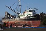 Port Townsend, fishing boat, New Saint Joseph, fish packer, Boat Haven Marina, Washington State, USA,
