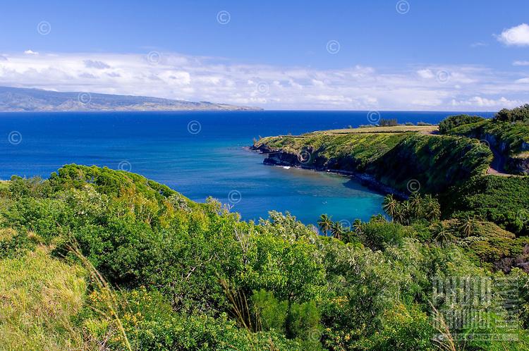 Moloka'i as seen from Honolua Bay in Kapalua, Maui