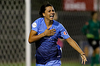 Piscataway, NJ - Saturday August 19, 2017: Samantha Kerr during a regular season National Women's Soccer League (NWSL) match between Sky Blue FC and the Seattle Reign FC at Yurcak Field.