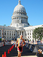 Madison's Joe Kurian finishes in 9:16:43 to come in 14th place in Ironman 2010 on Sunday, 9/12/10, in Madison, Wisconsin
