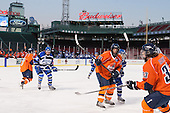 Kyle Phelan (SSU - 2), Peter MacIntyre (UMB - 19), Alex Minter (SSU - 14), ?, Keaton Cashin (SSU - 33) - The University of Massachusetts Boston Beacons defeated the Salem State University Vikings 4-2 (EN) on Tuesday, January 7, 2014, at Fenway Park in Boston, Massachusetts.