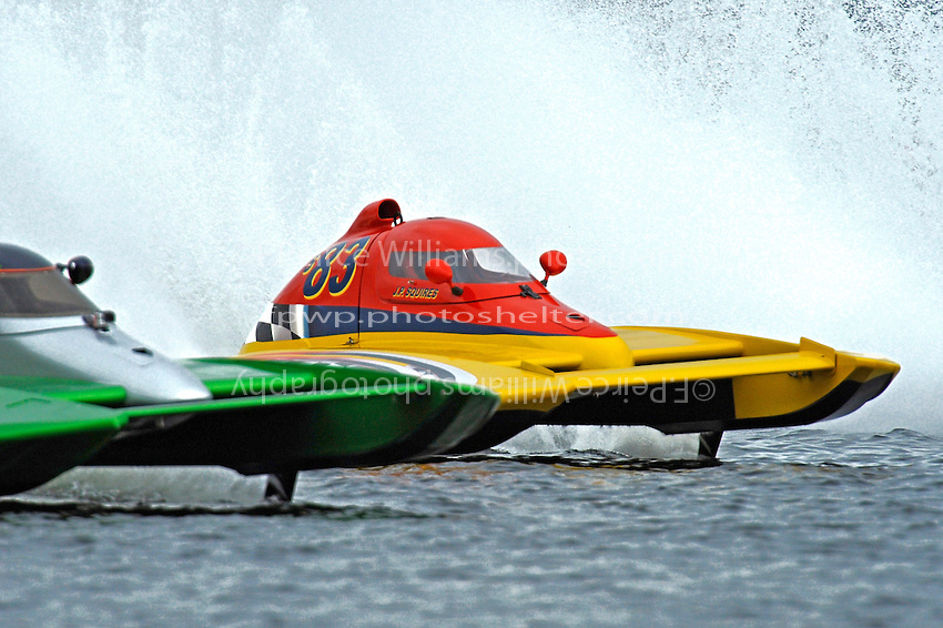 "J. P. Squires, S-83 ""Mega Bucks"" (2.5 Litre Stock hydroplane(s)"