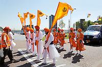 Nederland Almere 2016 05 08.  Sikhs vieren Vaisakhi. Nagar Kirtan optocht door Almere Haven. Foto Berlinda van Dam / Hollandse Hoogte