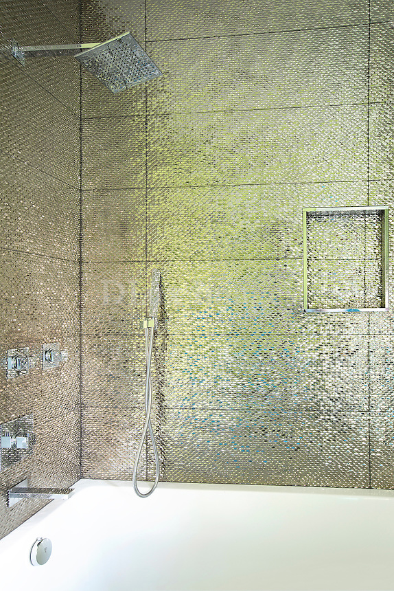 Wall tiles in gold shade