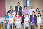 Connie Donnegan, Tullig, Castleisland who celebrated his christening with his parents Breda and Philip in Cordal on Saturday front row l-r: Cillian Horgan, Martina Horgan, Gearoid Donnegan, Breda, Connie, Philip and Julia Donnegan, Joe Horgan and Julie Ryan. Back row: Gerard, Tadhg, Fionnuala, Sheila O'Dowd, Canon O'Mahony and Caoimhe Horgan