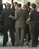 Washington, DC - August 6, 1998 -- Monica Lewinsky departs from U.S. District Court this afternoon after testifying before the Grand Jury investigating her alleged affair with President Clinton..Credit: Ron Sachs / CNP