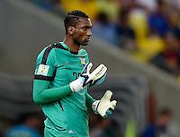 FUSSBALL WM 2014  VORRUNDE    GRUPPE E     Ecuador - Frankreich                  25.06.2014 Torwart Alexander Dominguez (Ecuador)
