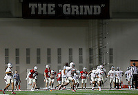 Ohio State players practice for the first time during spring football at the Woody Hayes Athletic Center on March 10, 2015. (Adam Cairns / The Columbus Dispatch)