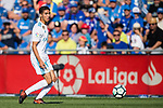 Achraf Hakimi of Real Madrid in action during the La Liga 2017-18 match between Getafe CF and Real Madrid at Coliseum Alfonso Perez on 14 October 2017 in Getafe, Spain. Photo by Diego Gonzalez / Power Sport Images