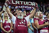 7th September 2017, Fenerbahce Arena, Istanbul, Turkey; FIBA Eurobasket Group D; Latvia versus Turkey; Fans of Latvia cheering