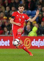 Ben Davies of Wales during the international friendly soccer match between Wales and Panama at Cardiff City Stadium, Cardiff, Wales, UK. Tuesday 14 November 2017.