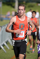 Nov 14, 2015; Claremont, CA, USA; Keenan Leary of Occidental competes during the 2015 NCAA Division III West Regionals cross country championships at Pomona-Pitzer College. (Freelance photo by Kirby Lee)