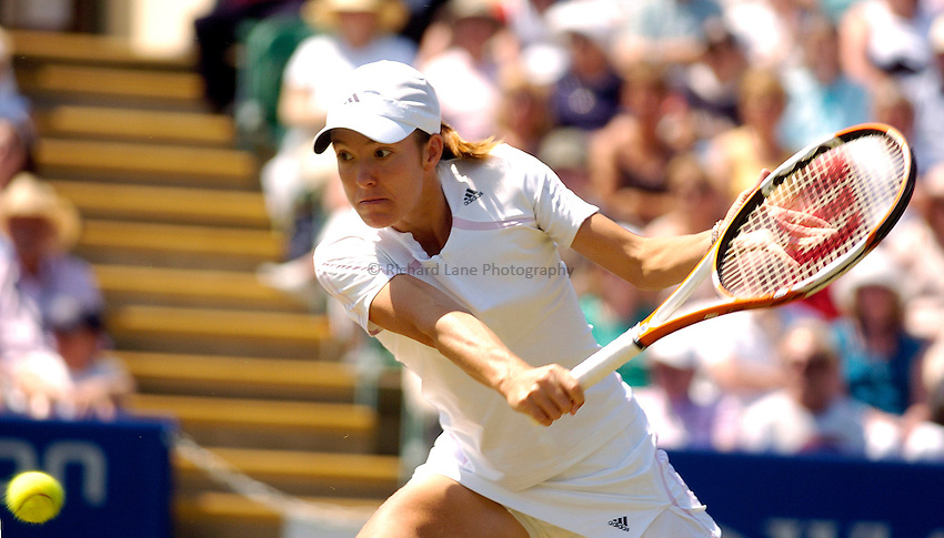 Photo: Alan Crowhurst..WTA The Hastings Direct International Championships Final, Eastbourne. 24/06/2006. Justine Henin-Hardenne.