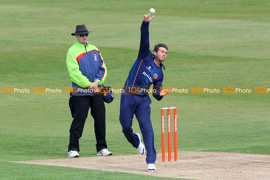 Greg Smith in bowling action for Essex - Northamptonshire CCC 2nd XI vs Essex CCC 2nd XI - 2nd XI T20 Cricket at the County Ground, Northampton - 09/05/14 - MANDATORY CREDIT: Gavin Ellis/TGSPHOTO - Self billing applies where appropriate - 0845 094 6026 - contact@tgsphoto.co.uk - NO UNPAID USE