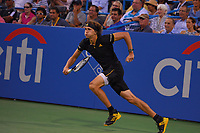 Washington, DC - August 2, 2017: Alexander Zverev of Germany plays during a match with Jordan Thompson at the Citi Open held at the Rock Creek Tennis Center in Washington, D.C., August 2, 2017.  (Photo by Don Baxter/Media Images International)