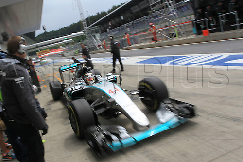 20.06.2015.  Red Bull Ring, Spielberg, Austria. F1 Grand Prix of Austria.   Mercedes AMG Petronas driver Lewis Hamilton comes into the pits