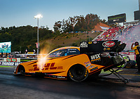 Jun 15, 2018; Bristol, TN, USA; NHRA funny car driver J.R. Todd during qualifying for the Thunder Valley Nationals at Bristol Dragway. Mandatory Credit: Mark J. Rebilas-USA TODAY Sports