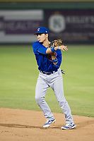 AZL Cubs second baseman Carlos Sepulveda (16) on defense during Game Three of the Arizona League Championship Series against the AZL Giants on September 7, 2017 at Scottsdale Stadium in Scottsdale, Arizona. AZL Cubs defeated the AZL Giants 13-3 to win the series two games to one. (Zachary Lucy/Four Seam Images)