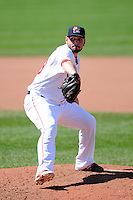 Portland Sea Dogs pitcher Robby Scott (29)  during a game versus the Trenton Thunder at Hadlock Field in Portland, Maine on May 17, 2014. (Ken Babbitt/Four Seam Images)
