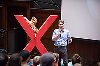 "Christopher Oze, Associate Professor, Geology, ""Changing the Concrete Paradigm.""<br /> Occidental College hosts TEDxOccidentalCollege on April 21, 2018 in Choi Auditorium of Johnson Hall. Students, faculty, alums and guest speakers delivered their TEDx Talk on the theme, Shifting Ecosystems of Power.<br /> (Photo by Marc Campos, Occidental College Photographer)"