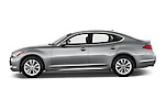 Car Driver side profile view of a 2015 Infiniti Q70 Base 4 Door Sedan Side View