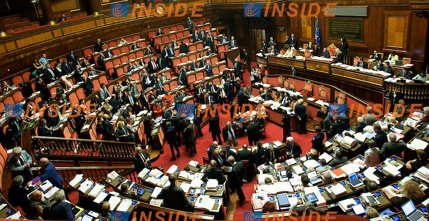 Panoramica<br /> Roma 31-07-2014  Senato. Discussione sul DdL Riforme costituzionali che prevede anche la riforma del Senato. <br /> Photo Samantha Zucchi Insidefoto