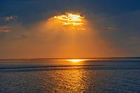Caraquet Bay in Chaleur Bay at sunset on the Acadian Peninsula, Caraquet , New Brunswick, Canada