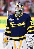 Nick Drew (Merrimack - 29) - The visiting Merrimack College Warriors tied the Boston University Terriers 1-1 on Friday, November 12, 2010, at Agganis Arena in Boston, Massachusetts.