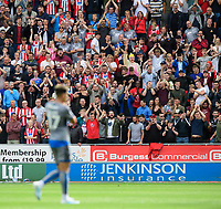 Lincoln City fans applaud Tyler Walker as he leaves the field after being substituted<br /> <br /> Photographer Chris Vaughan/CameraSport<br /> <br /> The EFL Sky Bet Championship - Rotherham United v Lincoln City - Saturday 10th August 2019 - New York Stadium - Rotherham<br /> <br /> World Copyright © 2019 CameraSport. All rights reserved. 43 Linden Ave. Countesthorpe. Leicester. England. LE8 5PG - Tel: +44 (0) 116 277 4147 - admin@camerasport.com - www.camerasport.com